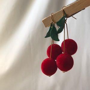 Jewelry - Cherry Drop Dangle Earrings